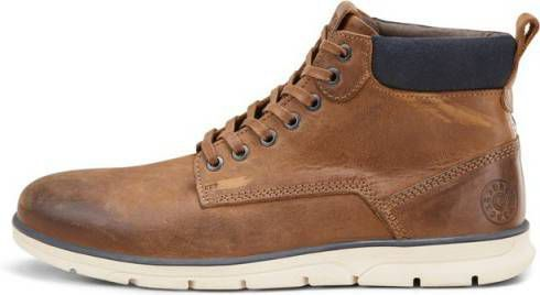 Jack & jones Brun Jfwtubar Leather Brandy Sts Sko online kopen